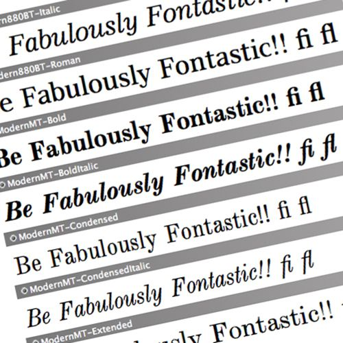 be fabulously fontastic